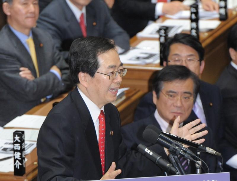衆院予算委員会で質問する斉藤鉄夫