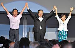 杉・山本の必勝を訴える 斉藤鉄夫(中)