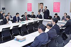 党税調総会であいさつする 斉藤鉄夫